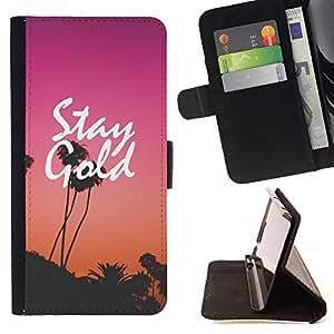 Momo Phone Case / Flip Funda de Cuero Case Cover - Purple Sunset Los Angeles - Sony Xperia Z5 Compact Z5 Mini (Not for Normal Z5)