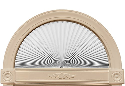 "Original Arch Light Blocking Fabric Shade, White, 72"" x 36"" ()"