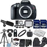 Cuerpo de la cámara Canon EOS Rebel T5i 18.0MP CMOS Digital SLR sólo con 2pc Comandante 16GB tarjetas de memoria + luz LED + Batería Extra + Lector de tarjetas + Filtro UV + Mochila Case + Trípode (14unidades)