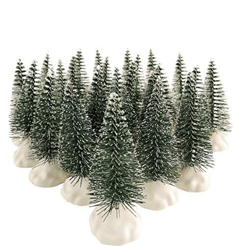"""ENNAS 24PCS 2.76"""" Tall Model Tree with Snow Frosted for Crafts/Home/Christmas/Village Decor Accessories(Included 24 PCS Trees and Bases)"""