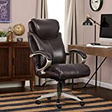 Serta Air Health and Wellness Executive Office Chair, Big and Tall, Roasted Chestnut
