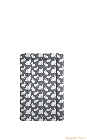 Baby Changing Mat Hedgehog Grey