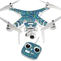 MightySkins Protective Vinyl Skin Decal for DJI Phantom 3 Standard Quadcopter Drone wrap cover sticker skins Blue Veins