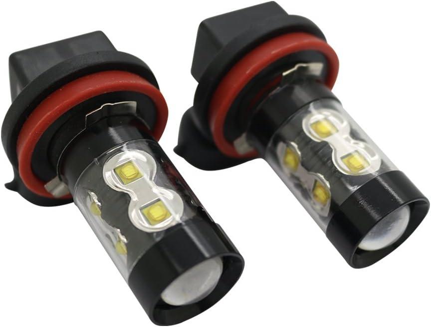 BESTHA H10 9145 9140 LED Fog Light Bulbs 6500K Xenon White High Power 50W LED Lights Bulbs DRL or Fog Lights