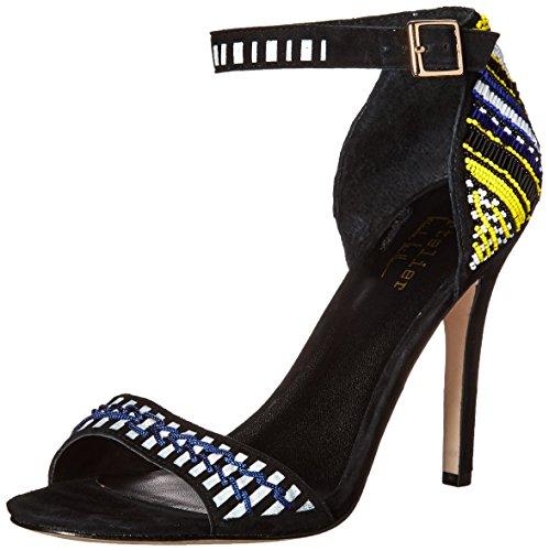 Nicole Miller Women Jillion Heeled Sandal Blue/Olive