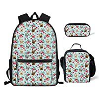 chaqlin Animal School Bag Backpack for Children Bookbag with Insulten Food Lunch Bags Pencil Holder