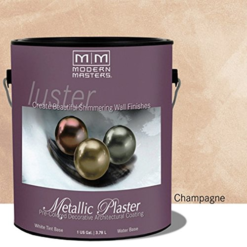 Modern Masters PSMP701-GAL Luster Series Metallic Plaster, Champagne - One Gallon - Modern Masters Plaster