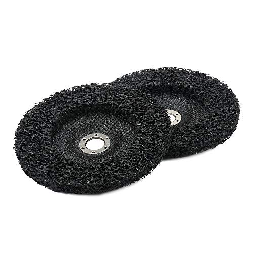2Pcs 7 inch Poly Strip Abrasive Angle Grinder Wheel Disc for Removal of Rust, Paint and Flaking Materials 180mm (Paint Flaking)