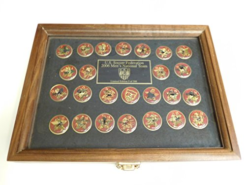 2006 World Cup USA National Soccer Team Pin Set of 25.Retail $200. Licensed. Serial Numbered to Only 500 Made! In Wood Presentation Box GREAT - In Price Usa Coach