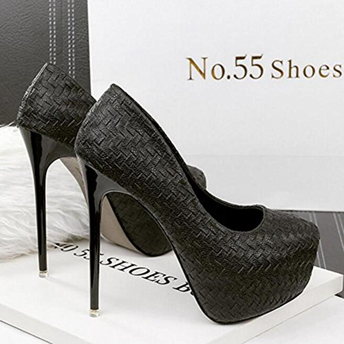 Single Table Will a Chatter Women'S Ultra Heels Color Dance Black Spell Waterproof Shoes High With Be 14cm g6AqI