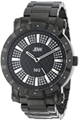 "JBW Men's JB-6225-D ""562"" Pave Dial Black Ion-Plated Diamond Watch"