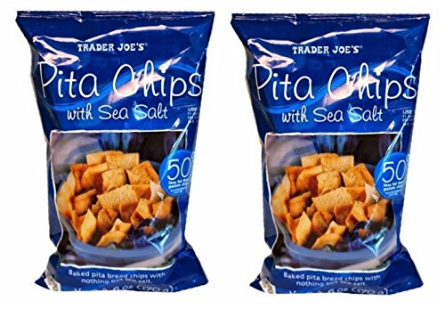 Trader Joe's Pita Chips With Sea Salt NET WT. 6 OZ (170g) - 2-PACK