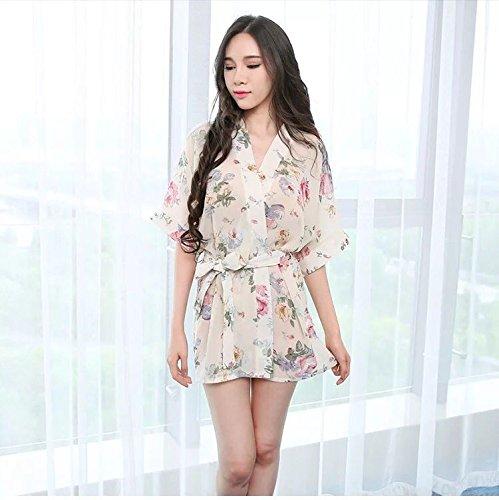 DHG Lencería Sex Sex Pijamas Transparentes Batas de Gasa Kimono Uniformes Faldas de Mujer Extremamente Atractivo, UN,Código Promedio: Amazon.es: Hogar