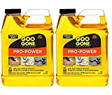 Goo Gone Pro-Power - Professional Strength Adhesive Remover, Removes Stickers, Tape, Grease and More - 32 Fl. Oz. 2 Pack
