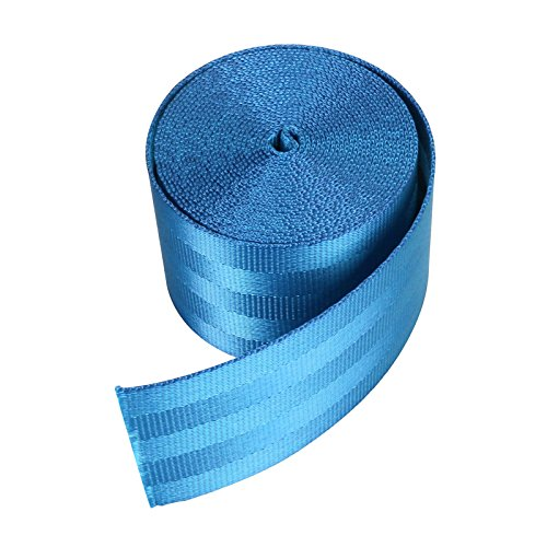 Window Replacement Nylon (LMD2002 Nylon Bands Heavy Webbing Strap, Bearing 6000 pounds,4.8cm x 360cm, For Craft, DIY Key Chain Fob, Yoga Strap, Bag Handle, Backpack Strap, Belt, Outdoor Chair Furniture and More (Light blue))