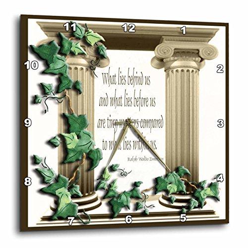 Cheap 3dRose dpp_18736_1 Ivy Pillars What Lies Behind Us Wall Clock, 10 by 10-Inch