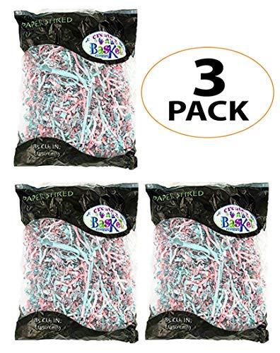 Bonka Bird Toys 1654 Pack3 Crinkle Paper Shred Parrots cage Foraging Basket Filler Gift Babies Shredded Birds