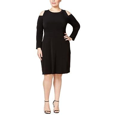 Michael Michael Kors Plus Size Cold-Shoulder Dress at Amazon Women\'s ...