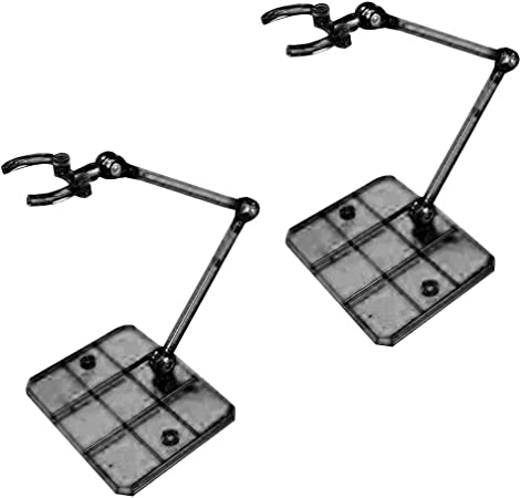 Set 2 Action Base Suitable Display Stand Figure Model Toy Black