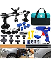 35PCS Car Dent Puller Kit - Auto Body Dent Puller Kit with Double Pole Bridge Dent Puller for Car Dent Removal, Minor dents and Car Hail Damage