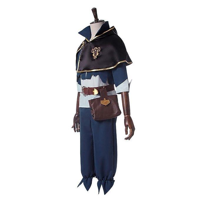 Amazon.com: Negro disfraz de Clover traje Anime Cosplay ...
