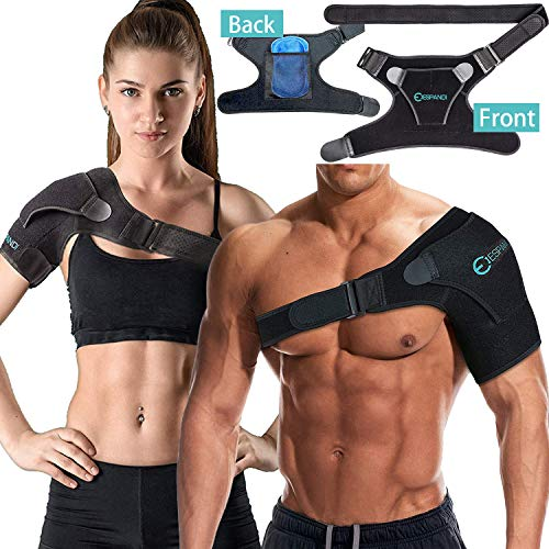 (Iespandi Shoulder Sling Brace with Pressure Pad for Men & Women helps Shoulders Pain relief Stability Compression Sleeve For Rotator Cuff Support, Arm injury Prevention and Dislocated AC Joint)