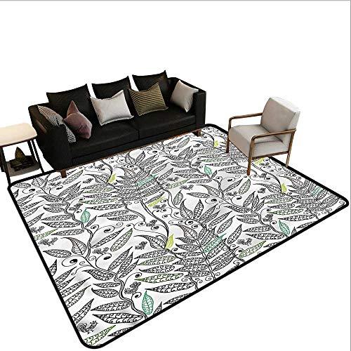 Fern Garden Birdbath - Doodle,Front Mat Home Decorative Carpet 36