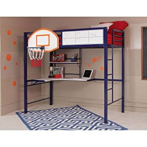 basketball bedroom furniture powell hoops basketball loft bed with 10180