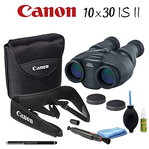 affordable Canon 10x30 is II Image Stabilized Binocular Starters Bundle