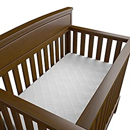 Bow-Tiger Quilted Bamboo Waterproof Crib Mattress Protector - White