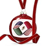 Christmas Decoration Infinity Flags USA and Mexican Ornament