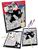kidsroom design ideas New Generation Go Alive - Parrot Coloring Velvet Art Posters 2-Pack Set of 11x15 Inch Color in Posters | 8 Super Tip Washable Markers Included | Parrot 2 Pack Fuzzy Posters Great as Gifting idea .