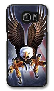 Fierce Eagle PC Case Cover for Samsung S6 and Samsung Galaxy S6 Black