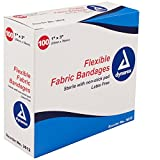Dynarex Flexible Fabric Adhesive Bandages - 3612, Box Of 100 1' X 3'