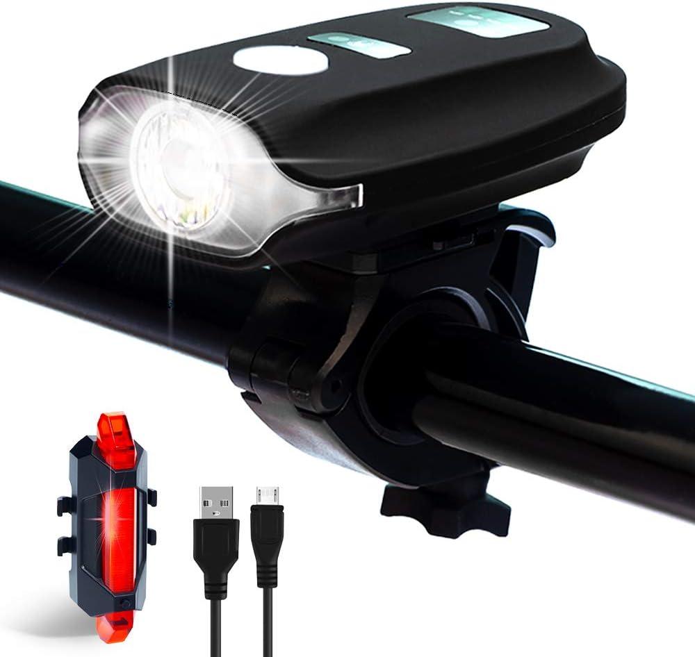 Metaku Fahrradlicht LED Fahrradbeleuchtung Set StVZO Zugelassen Fahrradlicht Vorne USB Wiederaufladbare Frontlicht R/ücklicht 4 Modi Wasserdicht Fahrradlampe 350 Lumen 1200mAh Fahrrad Licht Led Set