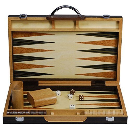 Black Zebra Wood Backgammon - Backgammon Black Wood