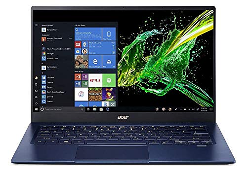 (Renewed) Acer Swift 5 10th Gen Core i5 14-inch Thin and Light Laptop (8GB/512GB SSD/Windows 10/Charcoal Blue/0.99kg), SF514-54T