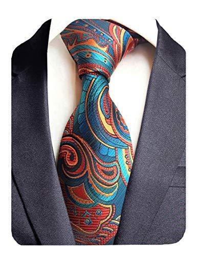 GUSLESON New Design Floral Necktie Luxury Tie for - Necktie Garcia Tie