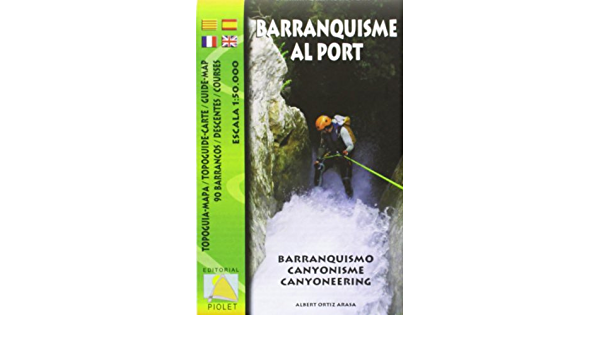 Barranquisme al Port. Mapa excursionista impermeable. Escala ...