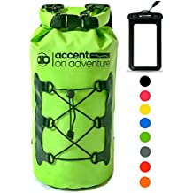 Premium Waterproof Dry Bag Compression Sack, Roll TopClosure 2 Detachable Shoulder Straps for Kayaking, Beach, Rafting, Boating, Hiking, Camping and Fishing with Waterproof Phone Case
