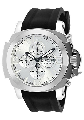 Invicta Men's 'Reserve' Swiss Automatic Stainless Steel and Silicone Casual Watch, Color:Black (Model: 18703)