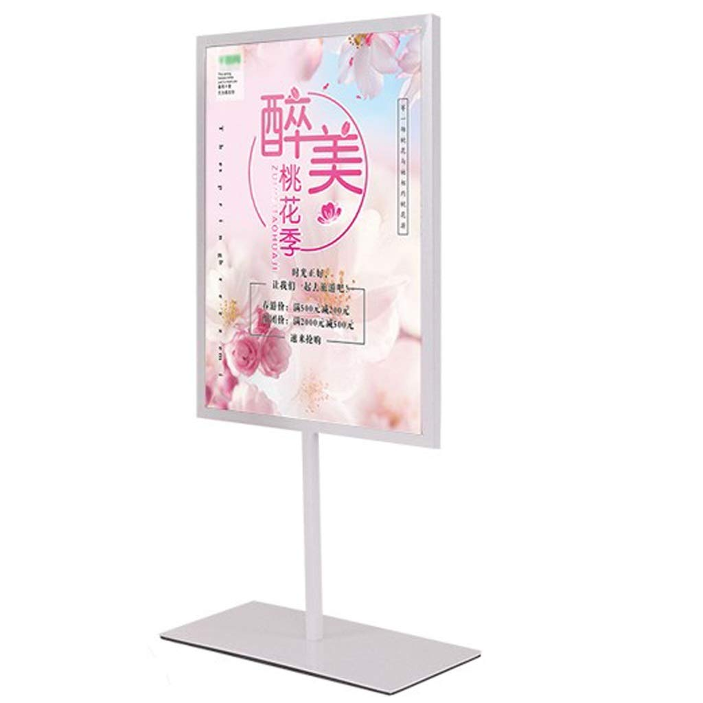 LPYMX Menu Holder Sign Holder, A3, A4 Display Stand, Double-Sided menu Stand Poster Holder A4 Display Stand (Color : White, Size : 305425MM) by LPYMX