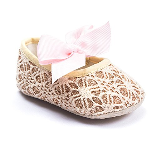 kuner-baby-girls-lace-bow-pattern-soft-sole-princess-shoes-first-walkers-shoes-13cm12-18months-golde