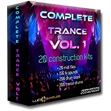 Complete Trance Vol. 1 WAV + MIDI Files - samples for commercial, euphoric trance. In 20 construction kits, 362 ready-made synth lead, bass and pad lines. Add extra 200 drum loops and 150 fx sounds