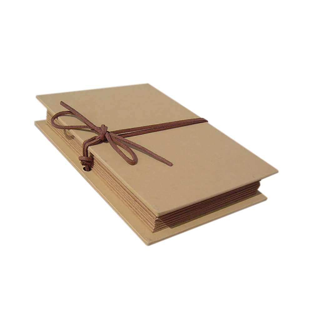 Aspire copertina rigida, carta kraft pieghevole scrapbooking wedding photo album può contenere foto da 10,2x 15,2cm DIY album, Brown, taglia unica