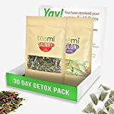 TEAMI 30-DAY DETOX PACK: Teatox Kit with Skinny Loose Leaf Herbal Tea for Weight Loss and Colon Cleanse Tea Bags to Increase Energy, Burn Fat and Reduce Bloating - Natural, Non GMO Ingredients