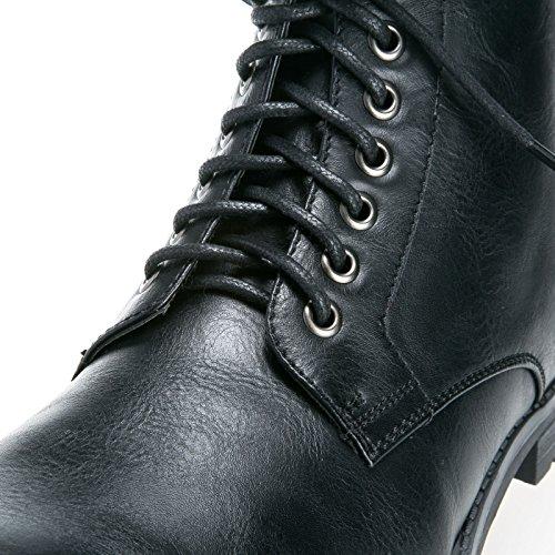 stivaletto Y09 Nero scarpe lacci MForshop moda pelle tronchetto eco stringate uomo scarponcino IqUvP