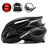 KING BIKE Cycle Helmet Mens Womens Adults Bicycle Bike Cycling Helmets for Men Ladies Women with Safety Rear Led Light and Helmet Backpack Lightweight