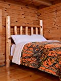 Regal Comfort Orange Camouflage Sherpa Luxury Mink Bed Spread Blanket - The Woods' Orange Camo (Queen 79 inch x 96 inch)
