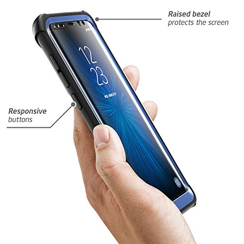 Samsung Galaxy S8+ Plus case, i-Blason [Ares] Full-Body Rugged Clear Bumper Case with Built-in Screen Protector for Samsung Galaxy S8+...